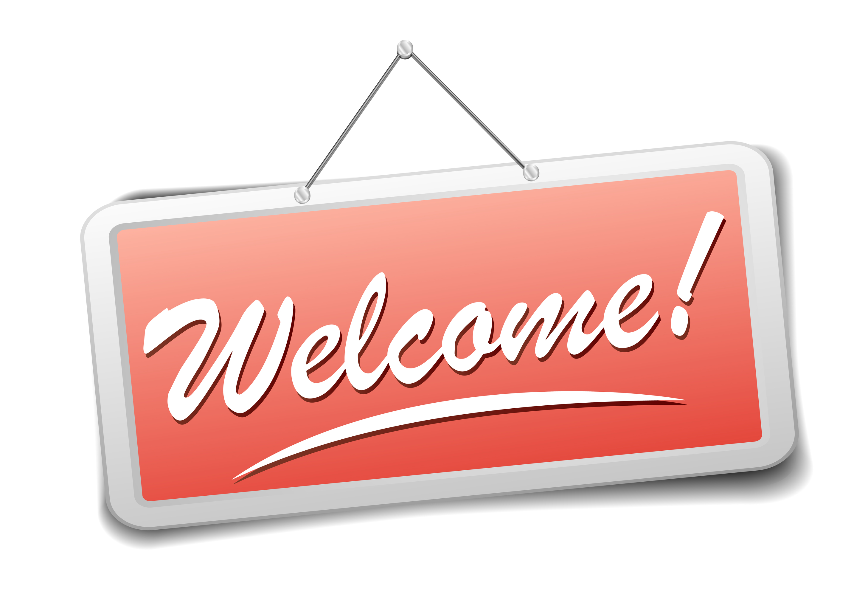 detailed illustration of a red welcome sign, eps10 vector